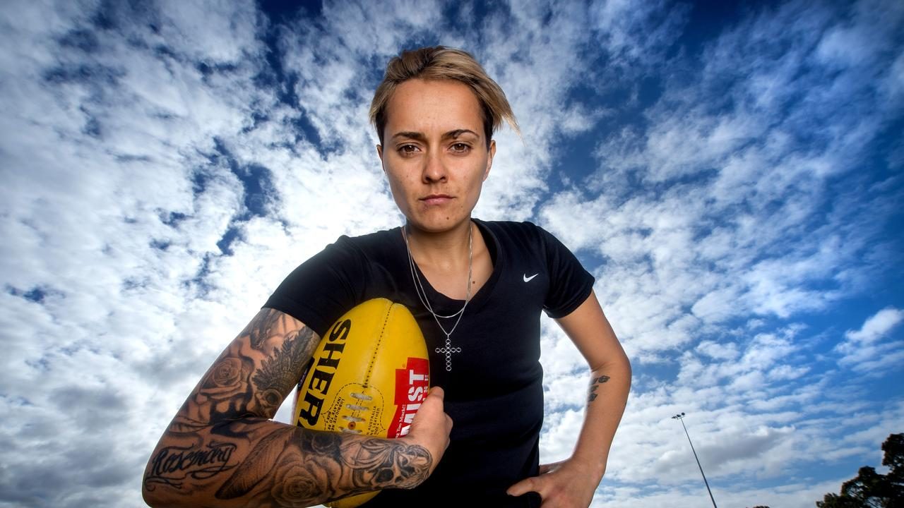North Melbourne AFLW player Mo Hope.