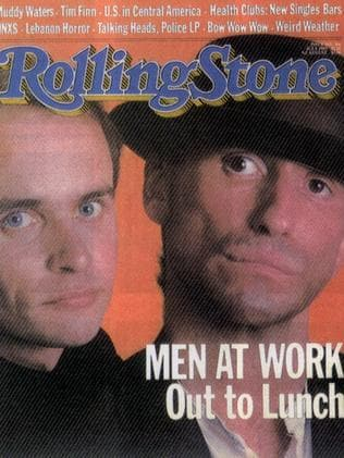 US Rolling Stone controversially cropped out three band members on the cover. Picture: Supplied