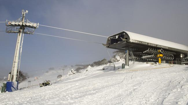 The slopes are starting to take shape in Perisher. Picture: Perisher