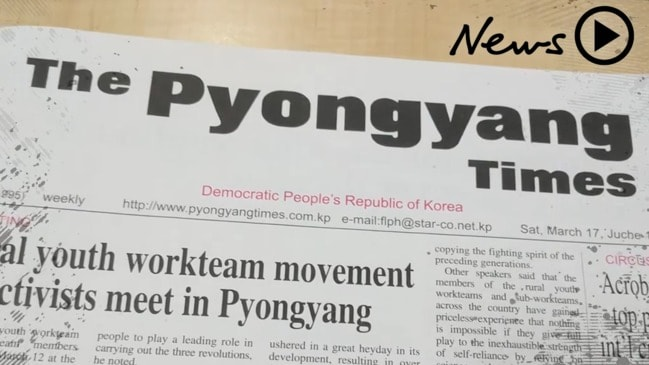 Take a peek inside a North Korean newspaper
