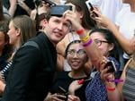 James Blunt pictured with fans on the red carpet at the 2015 ARIA Awards held at The Star in Pyrmont, Sydney. Picture: Richard Dobson