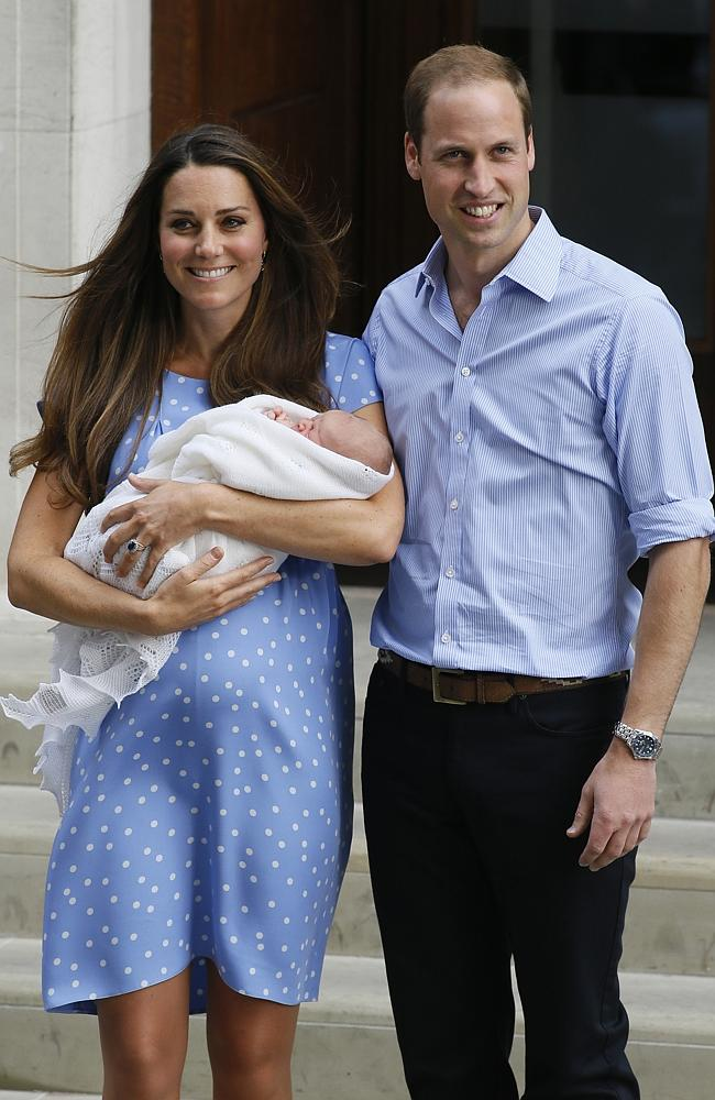 Two future Kings and a dress that crashed a website. The Duchess steps out in Jenny Packham with baby George.