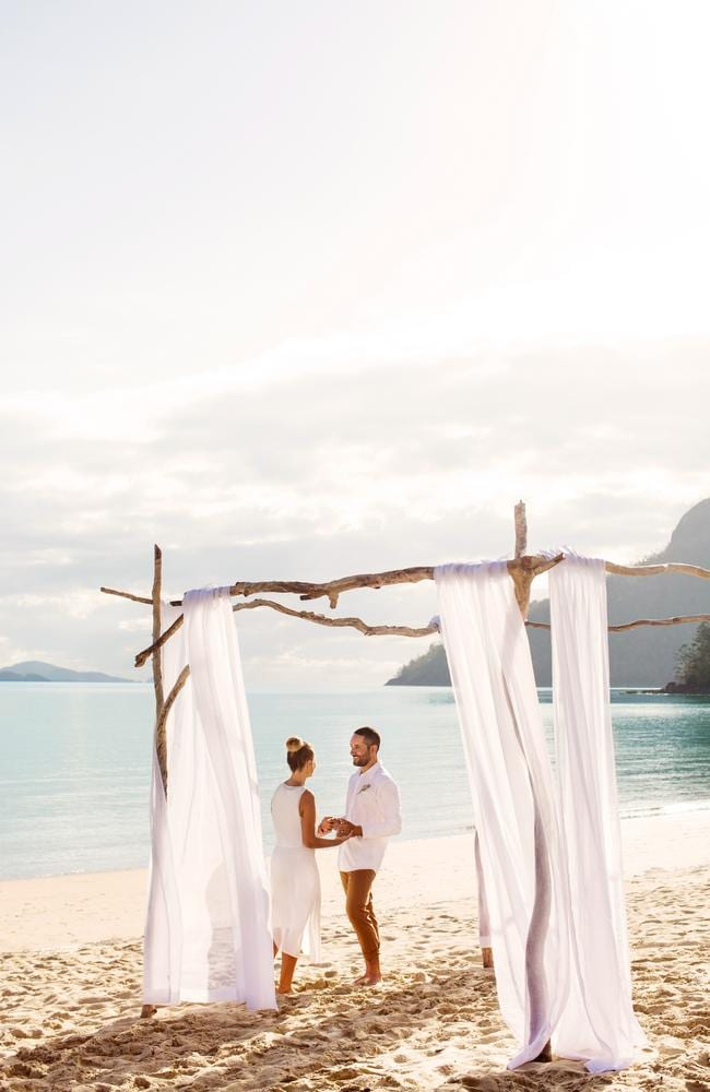 Were you hoping to head overseas for a destination wedding? Check out Hamilton Island instead. Picture: Hamilton Island Tourism