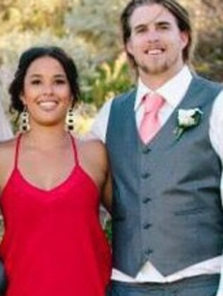 Ben Gerring, pictured with his fiancee, was fatally attacked in WA in May.