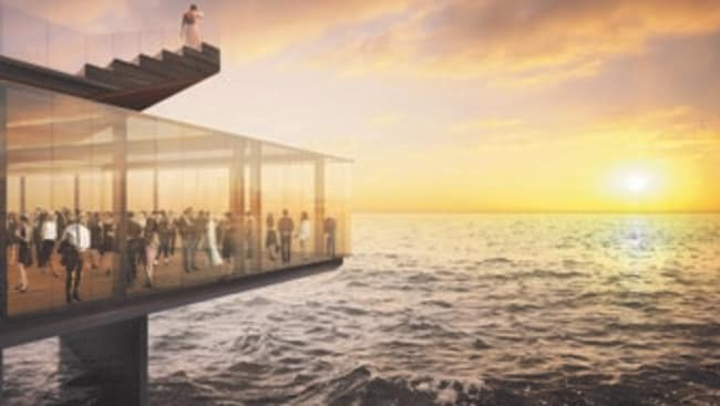 An ocean view with a difference. Artist's impression provided by design firm Mott MacDonald.