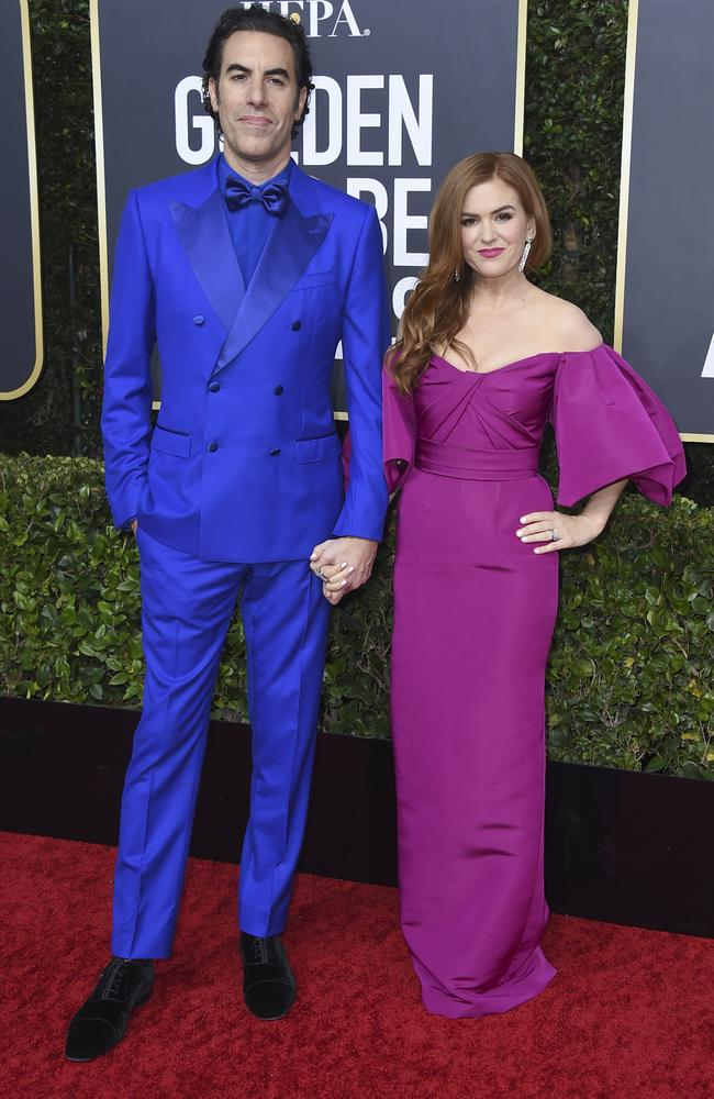 Sacha Baron Cohen and Isla Fisher. Picture: Jordan Strauss/Invision/AP