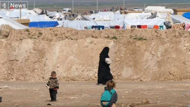 The brides were not grateful to the Kurds for giving them food and shelter in vast camps in northern Syria. Picture: Channel 4, UK.