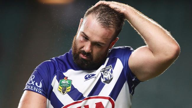 Aaron Woods will bounce back after a difficult start to his career at the Bulldogs according to former Tigers prop Steve Roach. Photo: Brendon Thorne