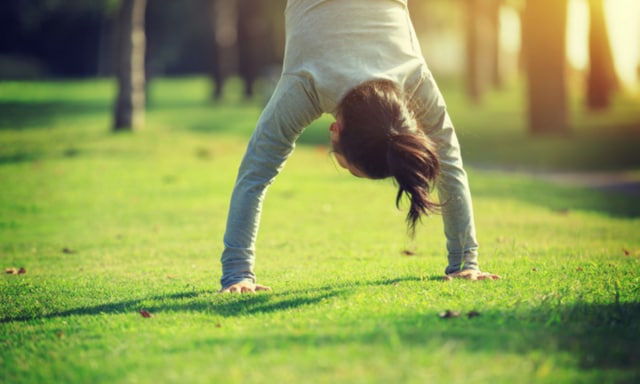 By six months postpartum I was back doing handstands in the backyard. Picture: iStock