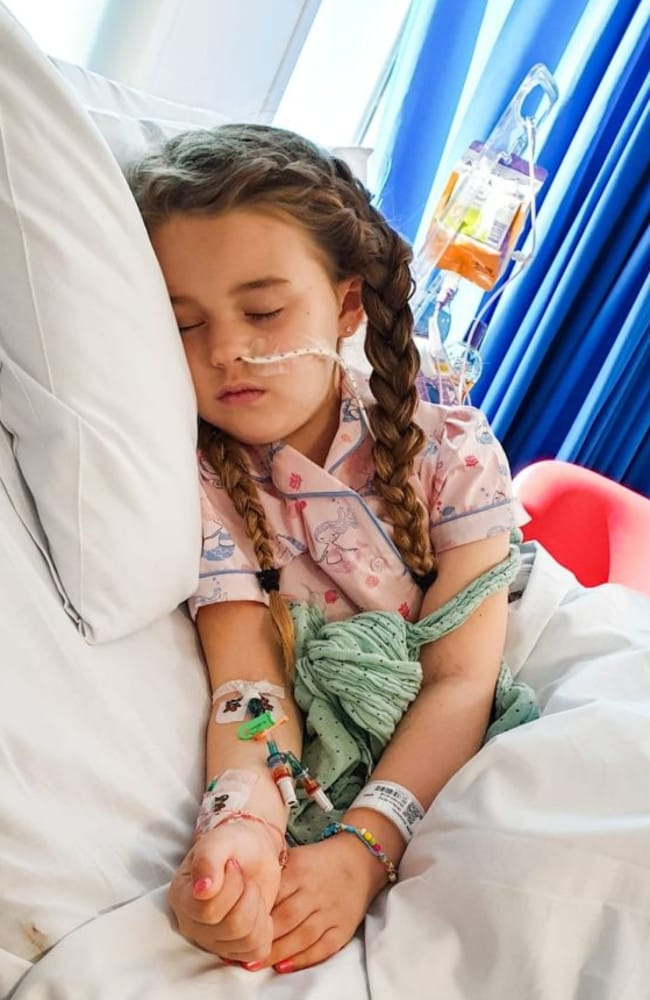 Annabelle Ginn was diagnosed with a brain tumour after falling out of bed. Picture: The Brain Tumour Charity