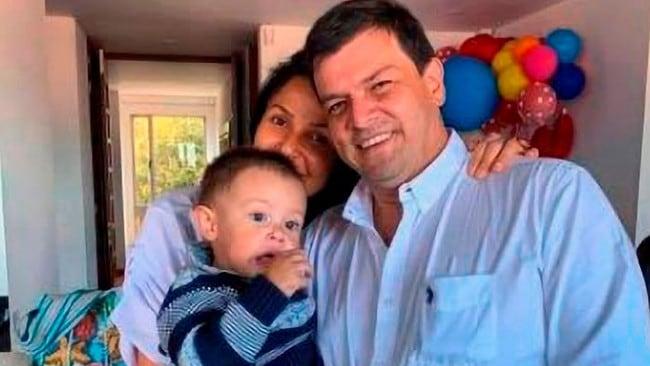 Mayerly Diaz Rojas bersama Fabio Grandas dan Martin.