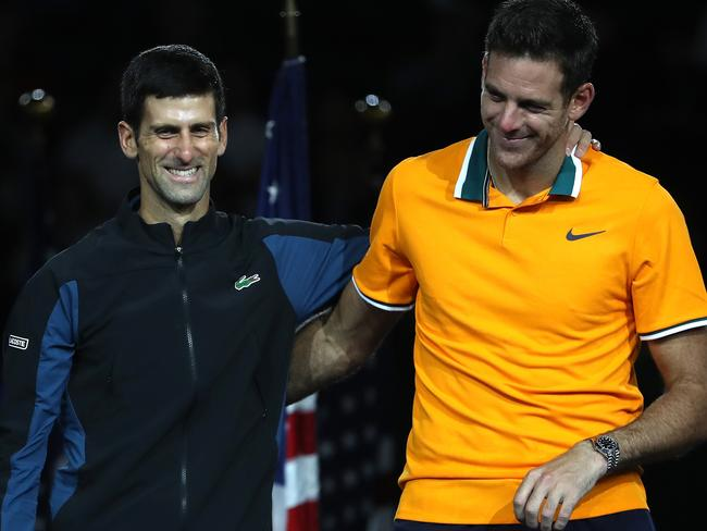 Novak Djokovic was pure class after defeating Juan Martin del Potro.