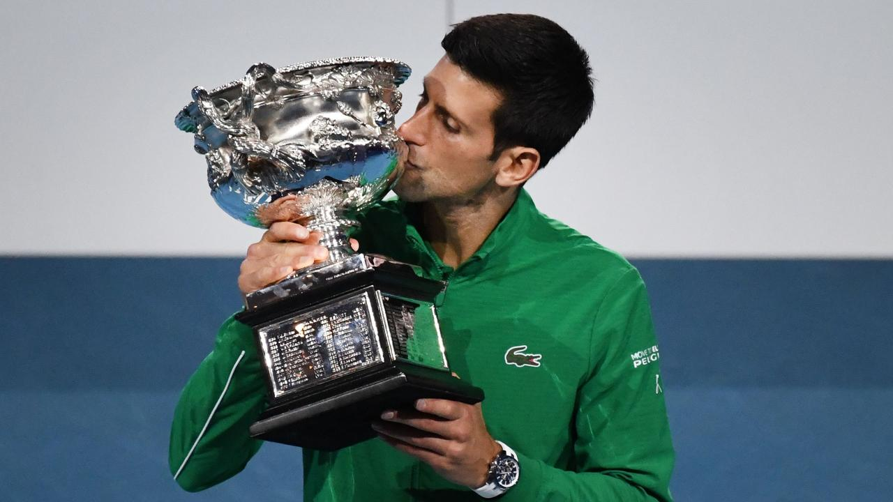 Novak Djokovic's quest for a record ninth Australian Open title begins with the all-important draw. (Photo by John DONEGAN / AFP)