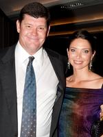 Crown's executive chairman James Packer with wife Erica at the opening of Crown Metropol in Melbourne on 21/04/2010.