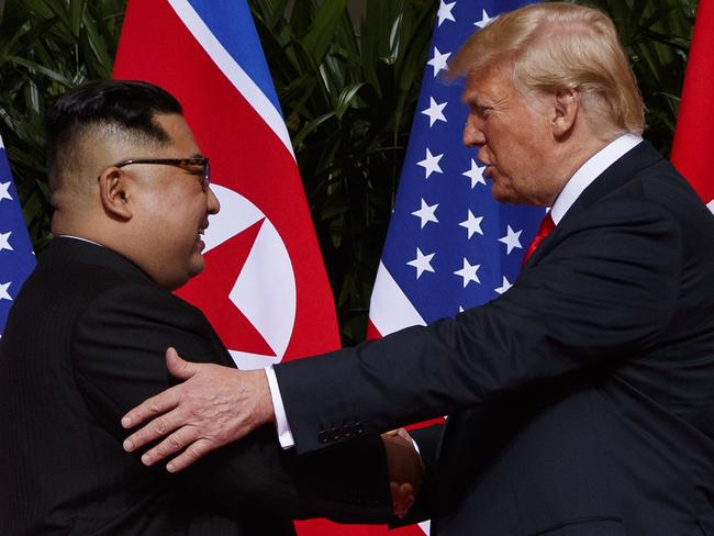 """President Trump, who met with Kim Jong-un in Singapore last month, said he """"really believes"""" the North Korean leader will denuclearise. Picture: AP"""