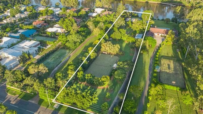 An aerial view of the property at 630 Jesmond Rd, Fig Tree Pocket.