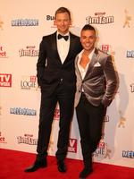 Tim Campbell and Anthony Callea on the red carpet at the 2015 Logie Awards at Crown Casino in Melbourne. Picture: Tim Carrafa