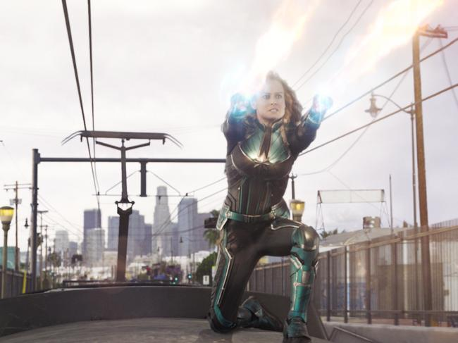 Brie Larson in Captain Marvel. Picture: Marvel Studios 2019