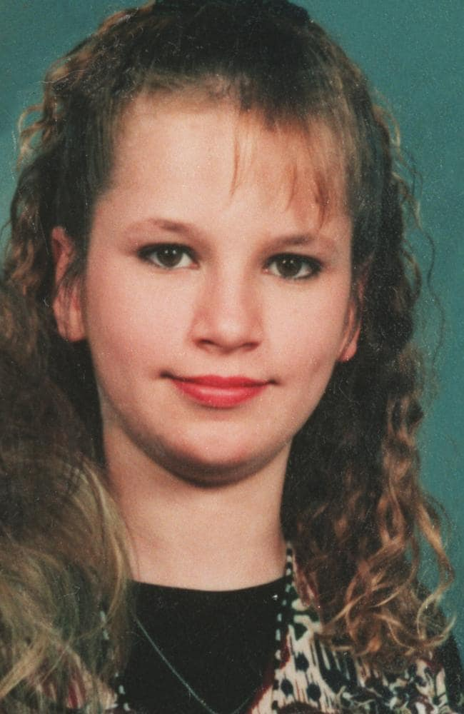 Krystal Jean Baker, 13, whose great aunt was Marilyn Monroe, was abducted from near the I-45, raped and strangled.