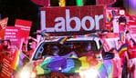 The Labor float at the 2020 Sydney gay and Lesbian Mardi Gras on Saturday 29th February 2020. Picture: Nikki Short