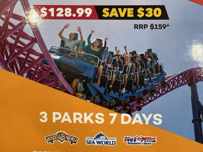 7-day Village Roadshow Super Pass: $128.99.