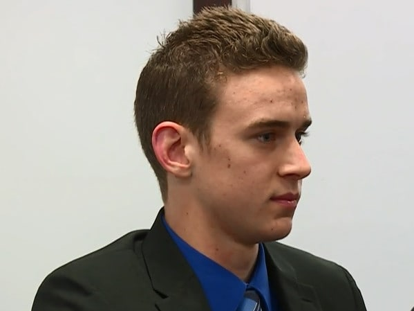 Jerome Kunkel, 18, presented symptoms of the chickenpox last week, his lawyer confirmed. Picture: NBC News