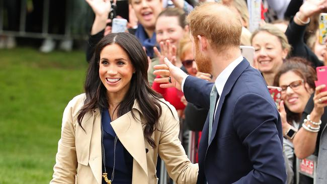 Meghan wearing the necklace gifted to her by Gavin. Picture: Scott Barbour
