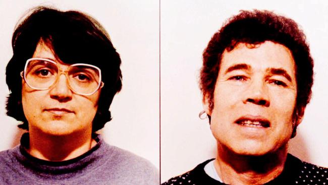Depraved couple Rosemary West and Fred West.