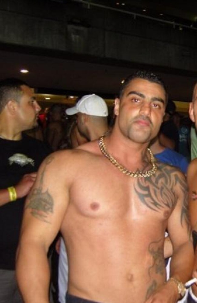 Slain bikie boss Mick Hawi at a function in 2008 at the height of his Comachero gang presidency.
