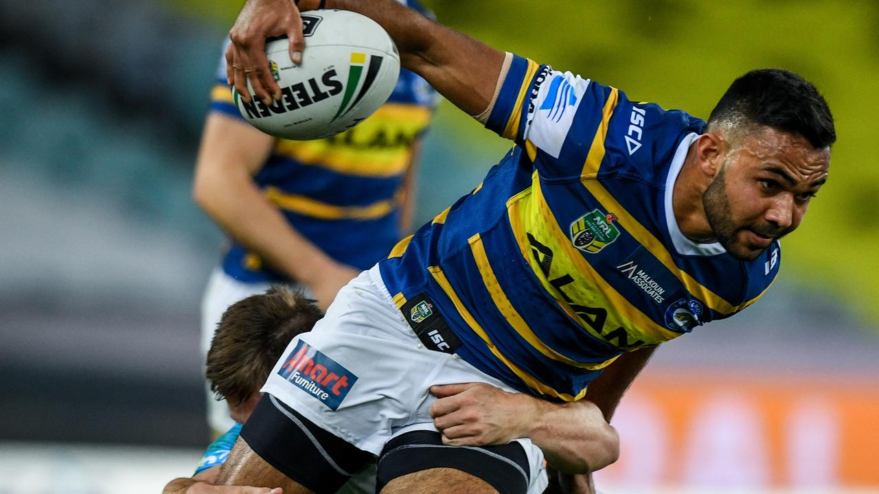 Bevan French during his last stint with the Eels in 2018.