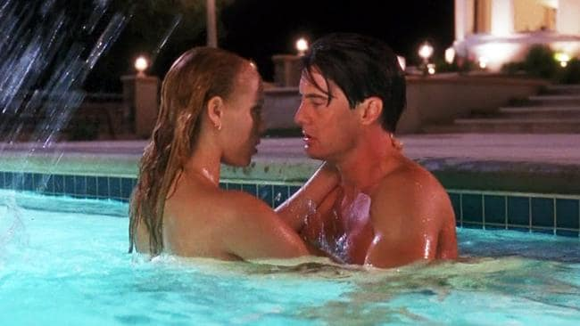 Don't be fooled. Within minutes Nomi Malone would be writhing in this pool in one of Hollywood's most panned sex scenes.