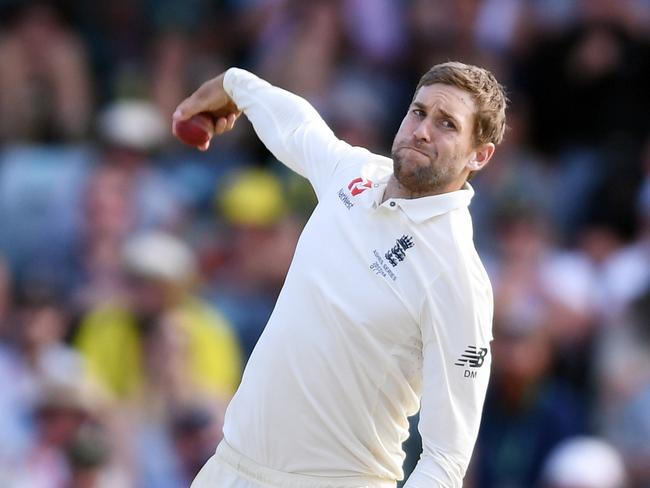 England's Dawid Malan bowling on Day 3 of the Third Test.