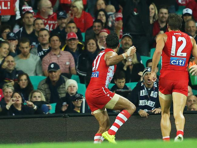 A powerful moment during Goodes' stellar career.