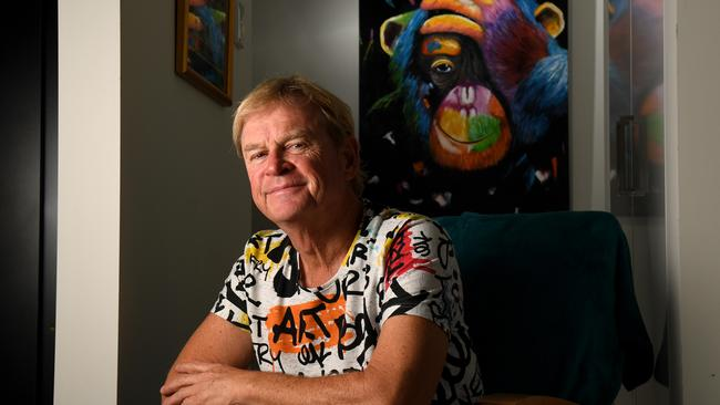 'Money in the bank!' Artist Marc Spurgin, 59, has switched savings account providers. Picture: Tricia Watkinson