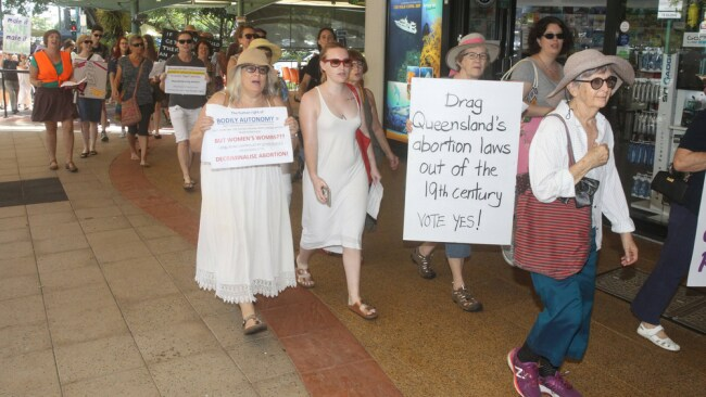 Pro Choice rally in Queensland. Image: Justin Brierty.
