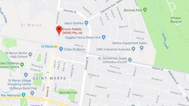 The worker was trapped in machinery at the western Sydney factory. Picture: Google Maps