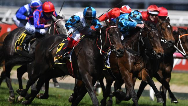 Amphitrite causes an upset in the Thousand Guineas. Picture: AAP