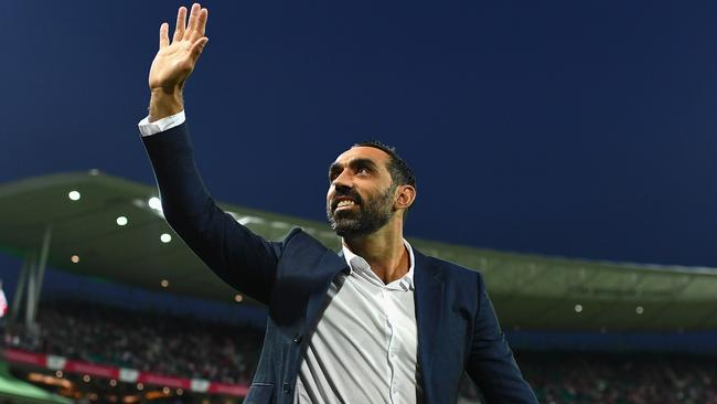 The AFL hopes it can lure Adam Goodes onto the AFL Commission.