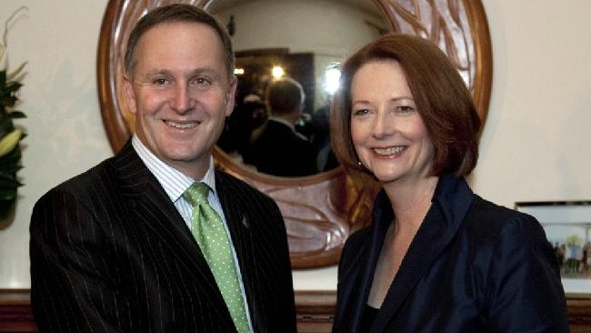Busy week: Julia Gillard will be marking her first year as Prime Minister on Friday; John Key will be making history this afternoon when he addresses Parliament. Picture: Getty Images