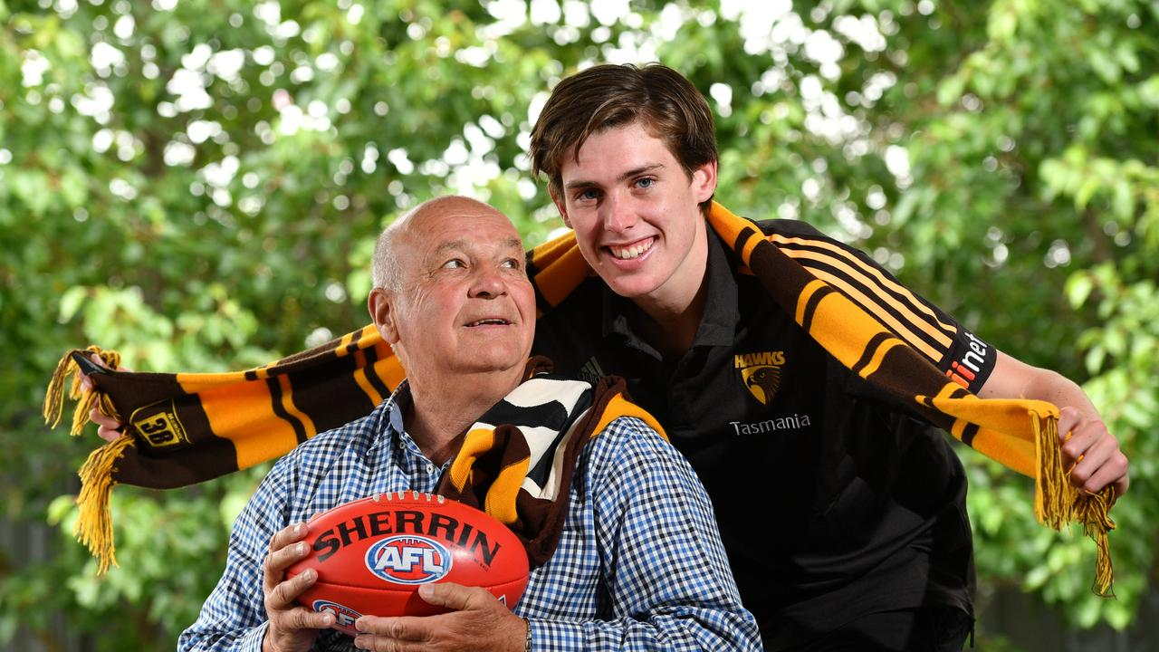 Robert Day with his Grandson Will. Photo: AAP/ Keryn Stevens