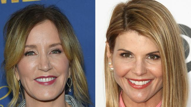 US actress Felicity Huffman (left) and actress Lori Loughlin (right). Picture: Lisa O'Connor and Tommaso Boddi / AFP.