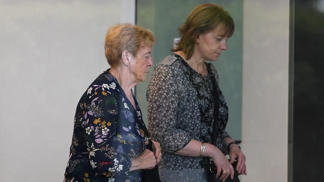 Angela Gore (left) shed a tear when the inquest heard about the searches undertaken. Picture: Dan Himbrechts/AAP
