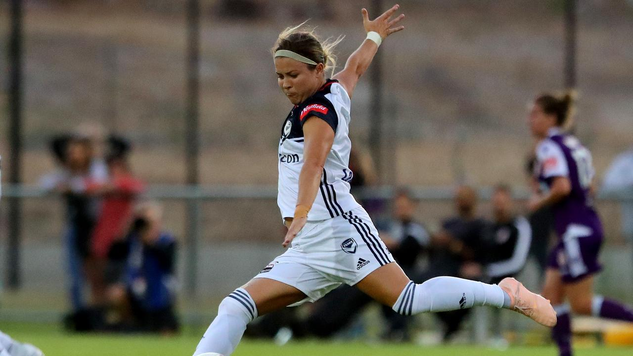 Melbourne Victory's Christine Nairn won the Julie Dolan Medal.
