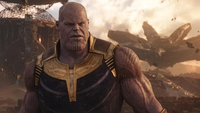 Thanos played by Josh Brolin is a genuinely terrifying movie villain. Picture: Marvel Studios 2018