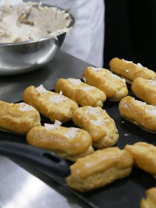 Baked goods include loukoumades and koulouri plus yummy treats like Baklava cheesecake.