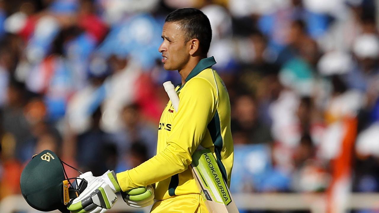 Usman Khawaja scored a century in the third ODI against India.