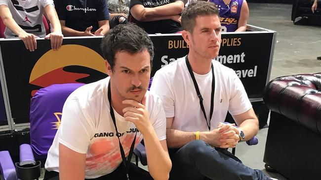 Liam and Sam at the Sydney Kings game on the weekend.