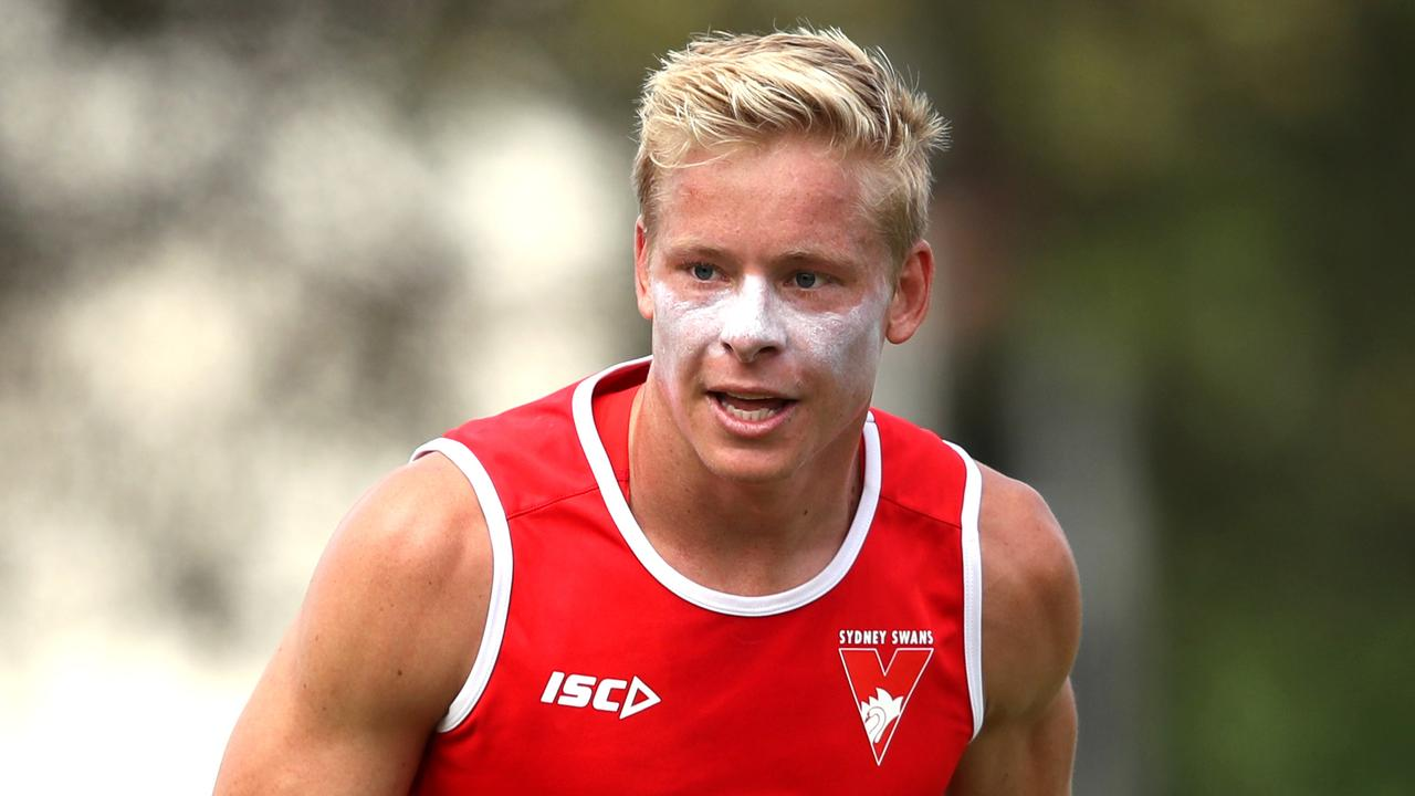 Isaac Heeney will undergo surgery to repair a broken thumb. Picture: Phil Hillyard