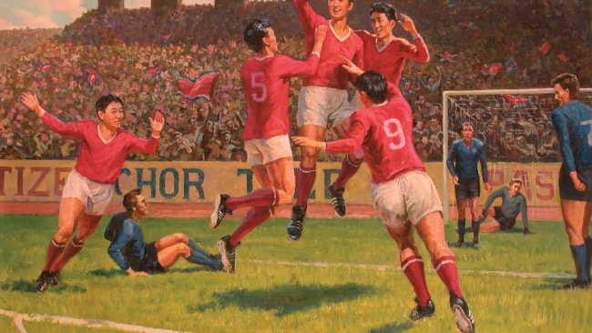 'One Can Always Lose: DPRK - Italy 1-0 - 1966 World Cup' by Go Jong Gil. Photo: Supplied