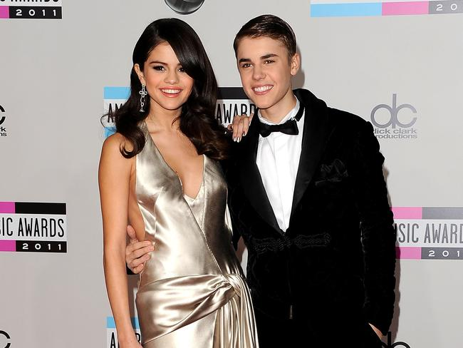 With ex-girlfriend Selena in 2011. Picture: Getty